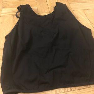 Black Lululemon Corset Crop Top with Built-in Bra